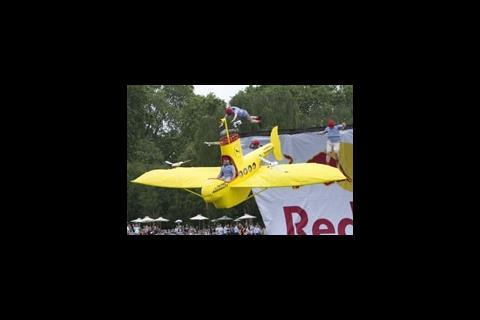Flying Aquanauts at the Red Bull Flugtag tournament